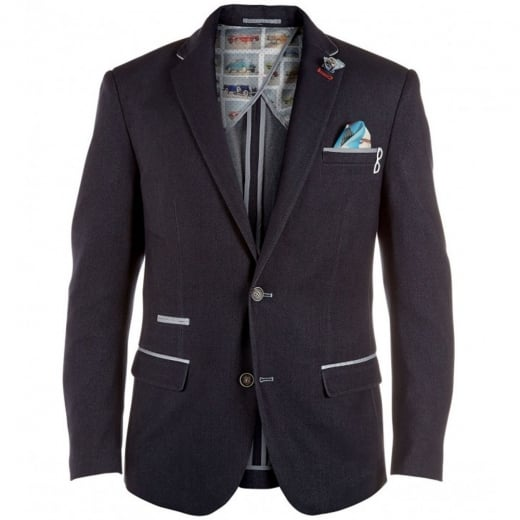 D555 Kingsize Curt Stretch Blazer Navy