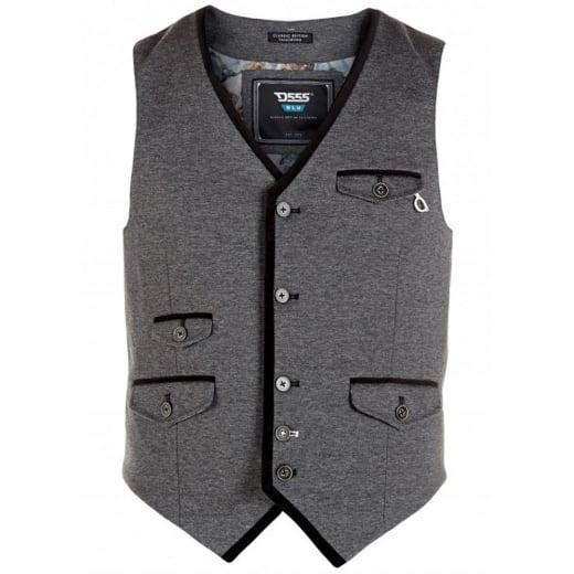 D555 Kingsize Derick Stretch Waistcoat Grey