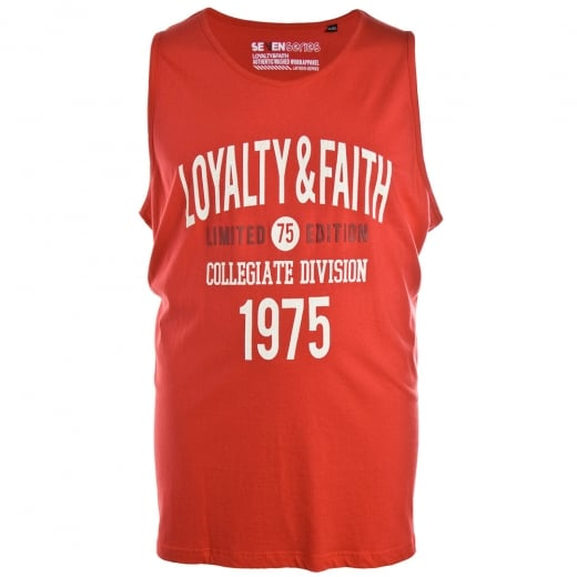 Loyalty & Faith Big Mens Balearic Vest Red