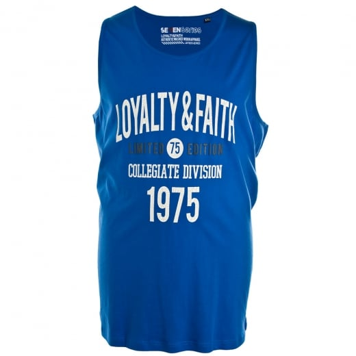 Loyalty & Faith Big Mens Balearic Vest Blue