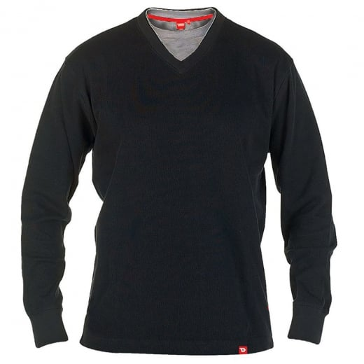 D555 Kingsize Bliss V-Neck Sweatshirt Black