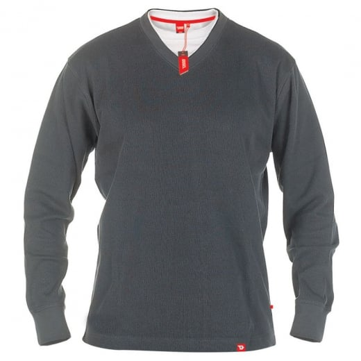 D555 Kingsize Bliss V-Neck Sweatshirt Charcoal