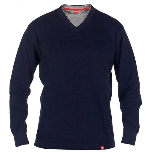 D555 Kingsize Bliss V-Neck Sweatshirt Navy