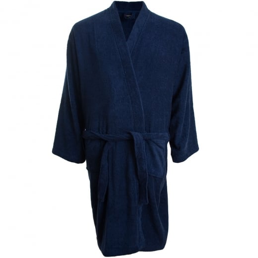 Espionage Big Mens PJ093 Fleece Gown Navy