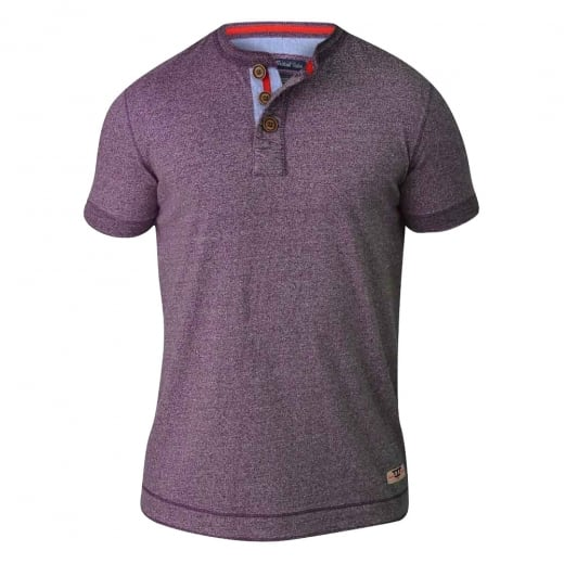 D555 by Duke Kingsize Paul T-Shirt Plum Twist