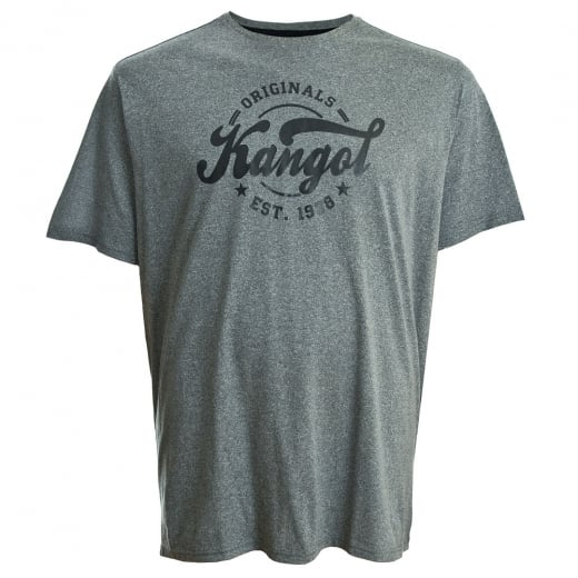Kangol Kingsize Herst Plus T-Shirt Charcoal