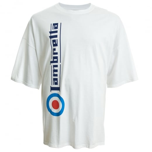 Lambretta Kingsize Side Logo T-Shirt White