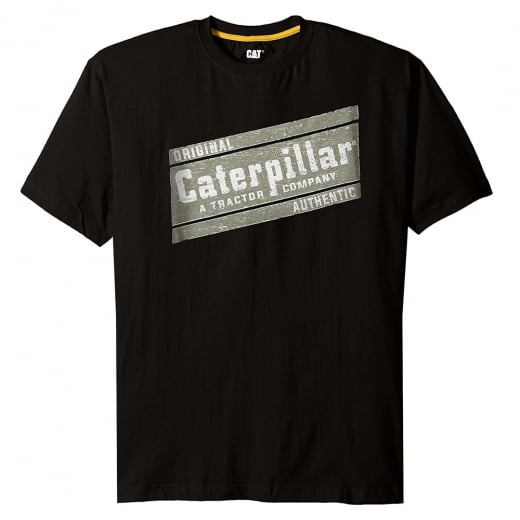 Caterpillar Kingsize Parallelogram T-Shirt Black