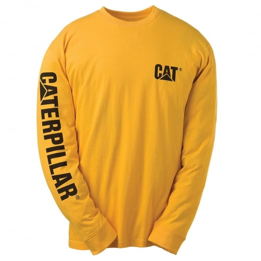 Caterpillar Kingsize Trademark Banner L/S T-Shirt Yellow