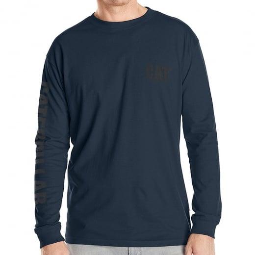 Caterpillar Kingsize Trademark Banner L/S T-Shirt Dark Marine