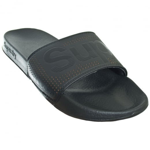 Superdry Pool Slide Black/Orange Perf