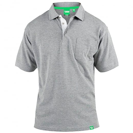 D555 Kingsize Grant Polo Grey Marl