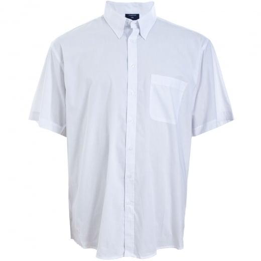 Espionage Kingsize SH147 Plain Collar S/S Shirt White