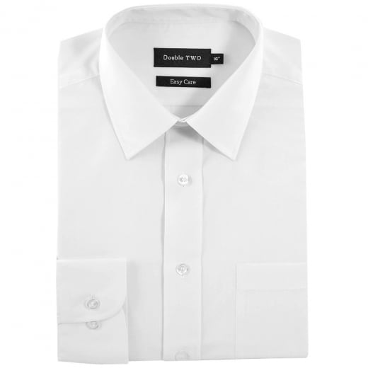 Double Two Kingsize SLX3300 Classic Long Sleeve Shirt White