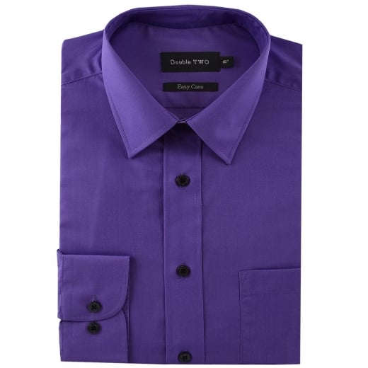 Double Two Kingsize SLX3300 Classic Long Sleeve Shirt Purple