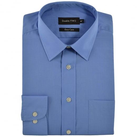 Double Two Kingsize SLX3300 Classic Long Sleeve Shirt Cornflower Blue