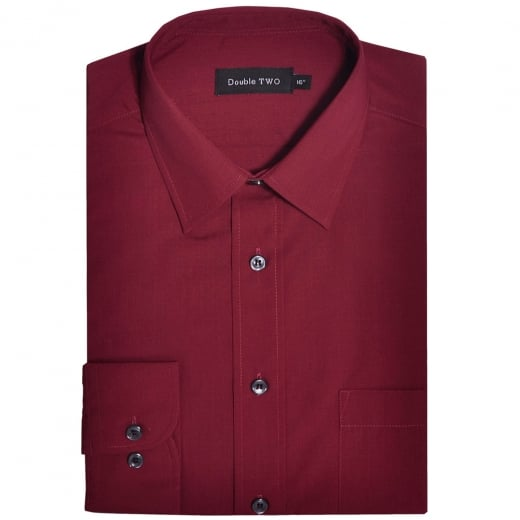 Double Two Kingsize SLX3300 Classic Long Sleeve Shirt Burgundy
