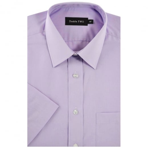 Double Two Kingsize SHX3300 Classic Short Sleeve Shirt Lilac