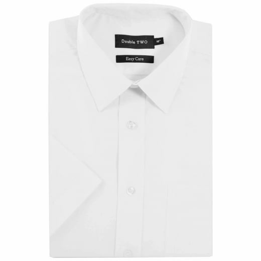 Double Two Kingsize SHX3300 Classic Short Sleeve Shirt White
