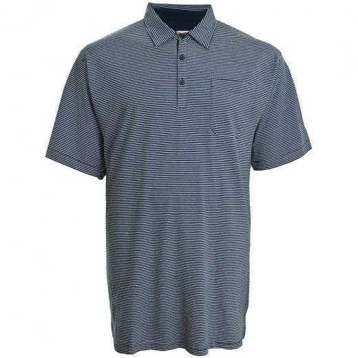 Espionage Kingsize P119 Stripe Jersey Polo Navy