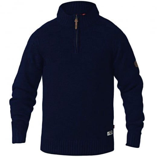 D555 Kingsize Tilden Zip Neck Knitwear Navy