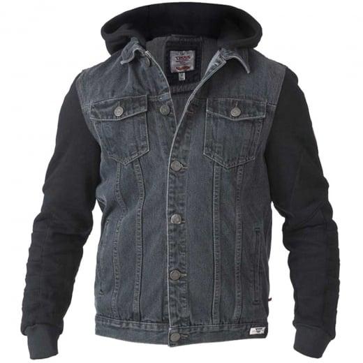 D555 Kingsize Walcott Hooded Denim Jacket Black