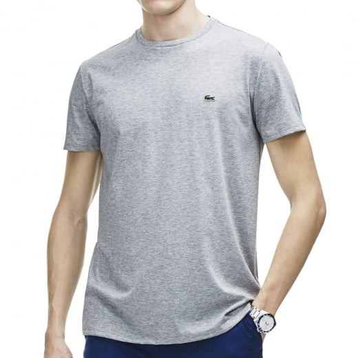Lacoste Plus Size TH6709 Crew T-Shirt Silver Chine