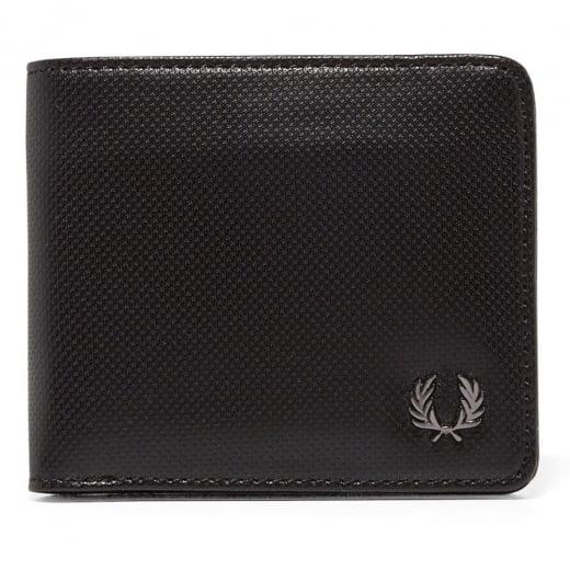 Fred Perry L2232 Pique Texture Bi-Fold Wallet Black
