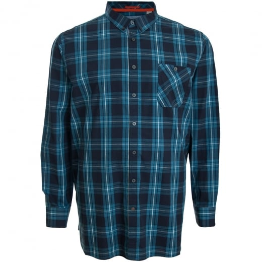 D555 Kingsize Smith L/S Shirt Navy/Teal