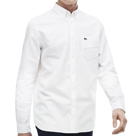 Lacoste Kingsize CH9598 Oxford L/S Shirt White