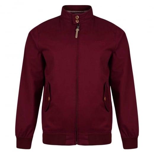 Lambretta Harrington Jacket Burgundy