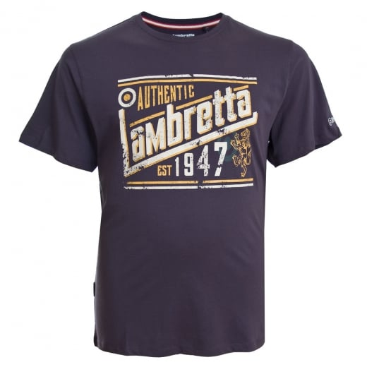 Lambretta Authentic T-Shirt Dark Purple