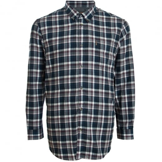 Ben Sherman Kingsize 48559 Check L/S Shirt Smoke