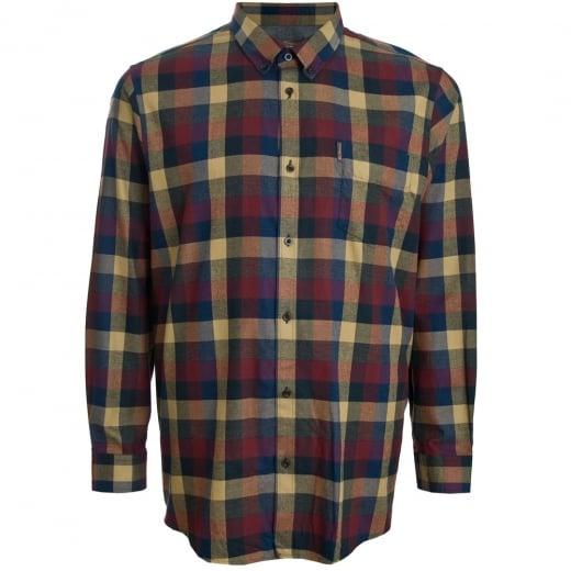 Ben Sherman Kingsize 48579 Check L/S Shirt Red