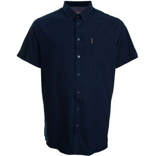 Ben Sherman Kingsize 48580 Oxford S/S Shirt Navy