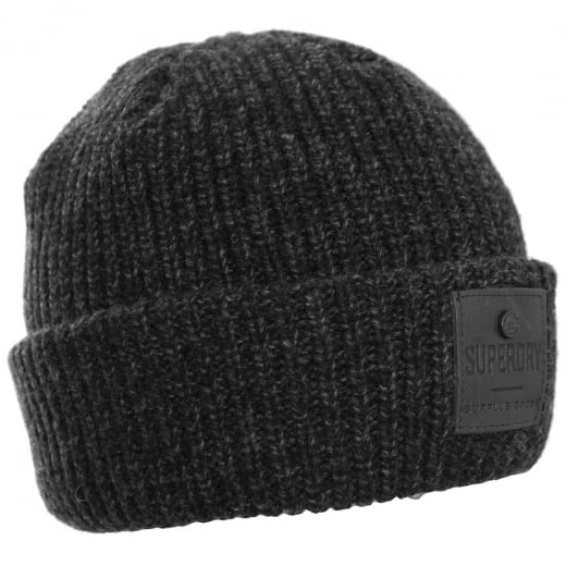 Superdry Surplus Goods Downtown Beanie Black/Charcoal Twist