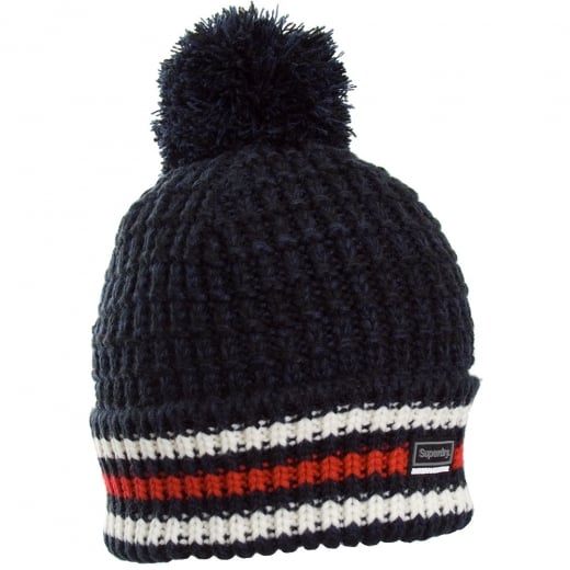 Superdry Tignes Bobble Beanie Black/Navy Twist