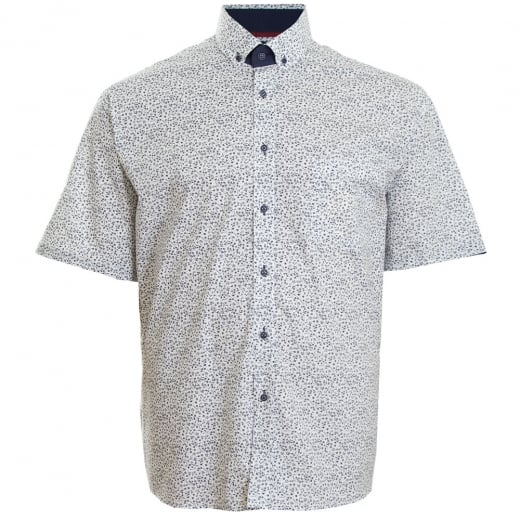 Cavani Kingsize CV11 Pattern S/S Shirt Navy
