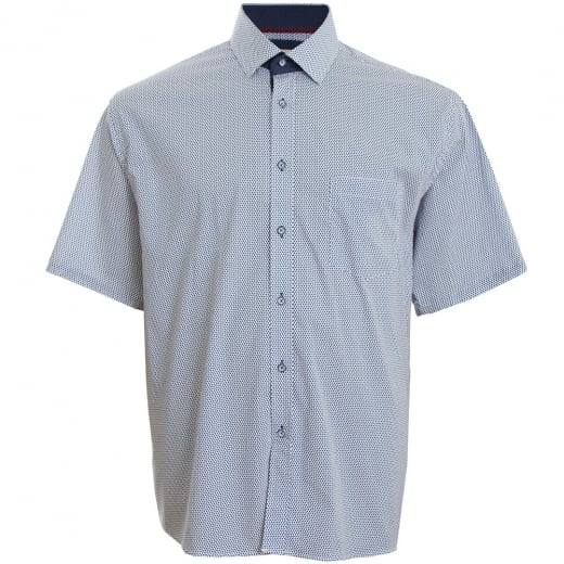 Cavani Kingsize CV13 Pattern S/S Shirt Blue