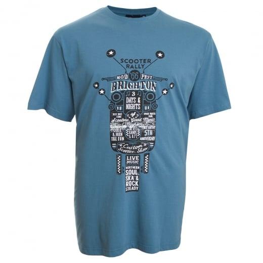 Espionage Kingsize Scooter T-Shirt Blue