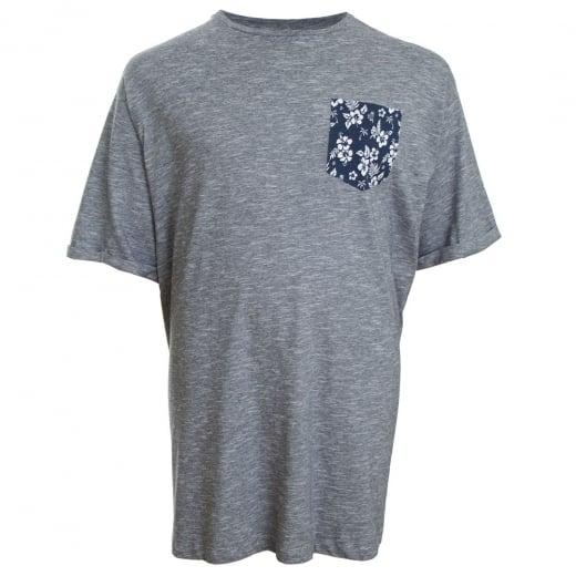 Espionage Kingsize Print Pocket T-Shirt Navy