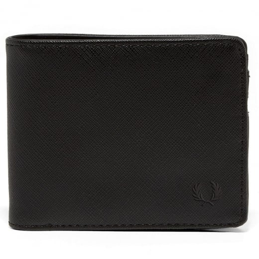 Fred Perry L3209 Saffiano Billfold Wallet Black