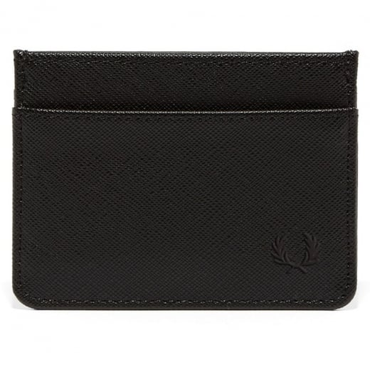 Fred Perry L3211 Saffiano Card Holder Black