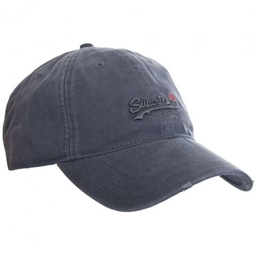 Superdry Orange Label Cap Worn Grey