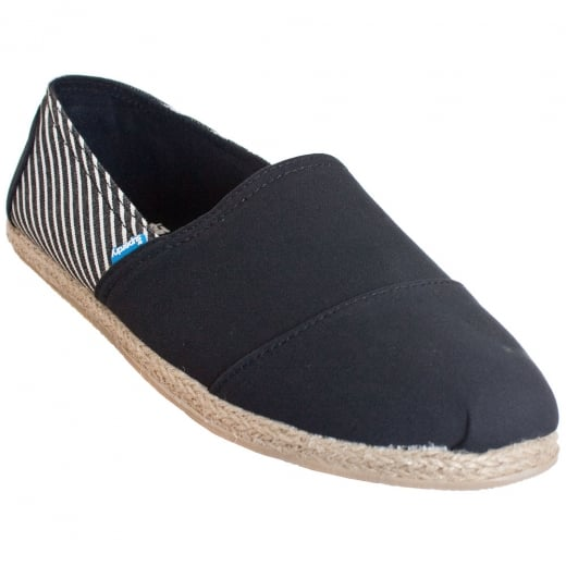 Superdry Jetstream Espadrille Black Stripe