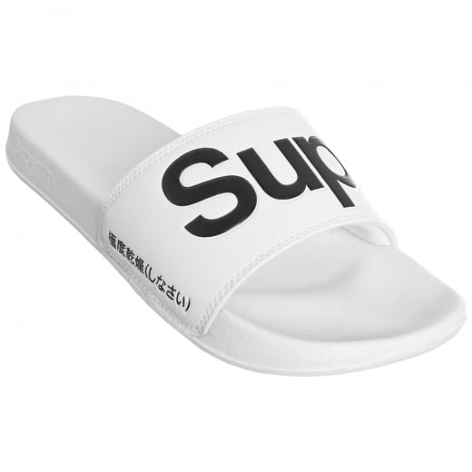 Superdry Pool Slide White/Black