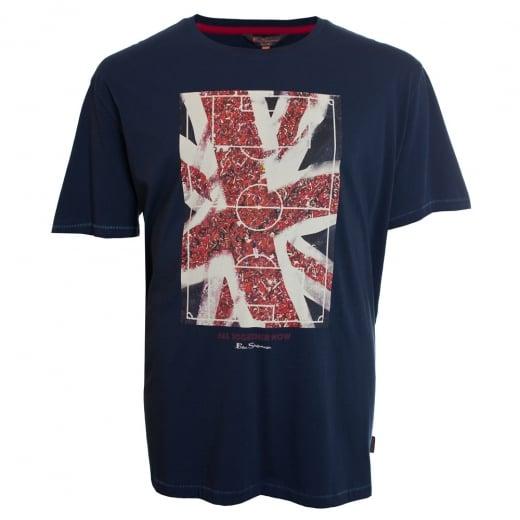 Ben Sherman Kingsize Union Jack T-Shirt Dark Navy