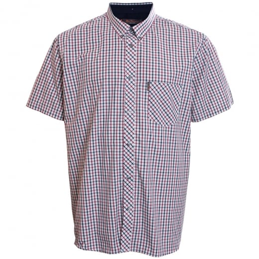 Ben Sherman Kingsize House Check S/S Shirt Blue Depths