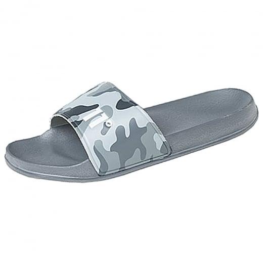 11 Degrees Elite Slides Grey Camo