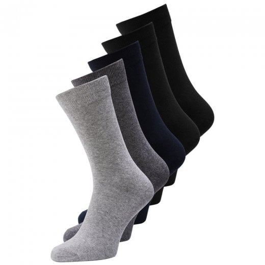 Jack and Jones Classic Sock 5-Pack Grey/Navy/Black
